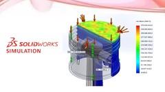 Imágen de SolidWorks Simulation - Análisis estáticos