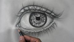 Imágen de Cómo Dibujar un Ojo Realista a Lápiz Fácil, Dibujo Artístico