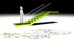 Free udemy coupon Grasshopper & Rhino Architectural Linear Stairs w/ Handrail