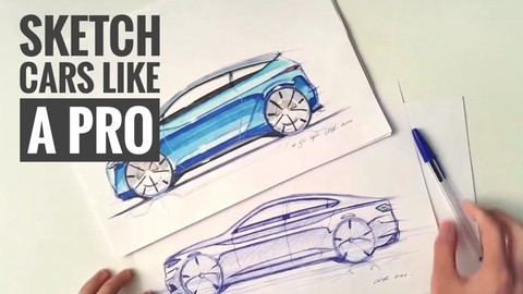 How to Sketch, Draw, Design Cars Like a Pro
