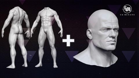 Netcurso-silver-pack-creacion-de-personajes-con-zbrush-pt-1-y-2