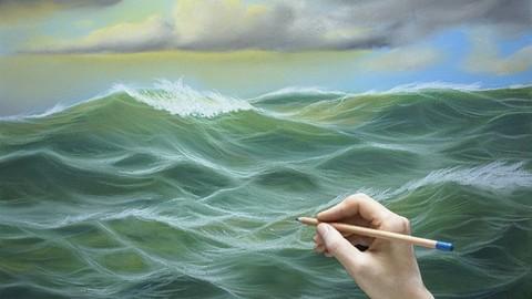 Netcurso-dibuja-un-paisaje-marino-al-pastel-dibujo-y-pintura-arte