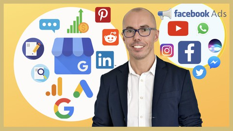 Image for course Ultimate SEO, Social Media & Digital Marketing Course 2021