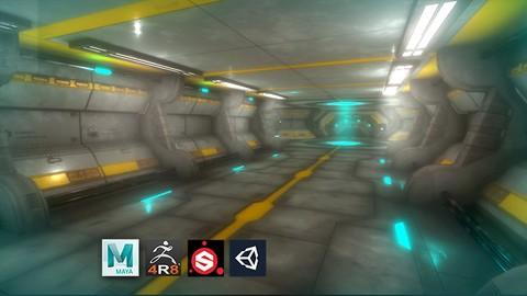 Netcurso-escenario-sci-fi-modular-para-game-o-realidad-virtual