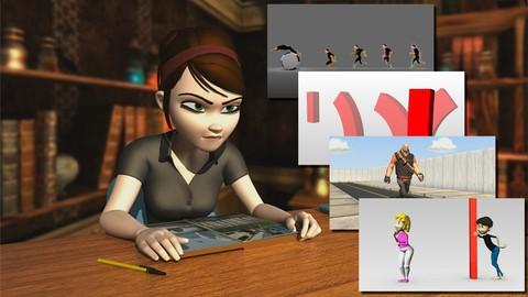 Netcurso-mega-pack-5-en-1-animacion-de-personajes-3d-de-cero-a-pro