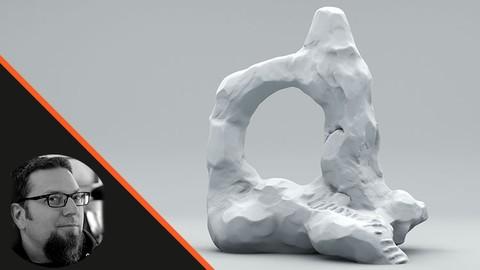 Netcurso-sculpt-a-rock-archway-ruin-in-zbrush