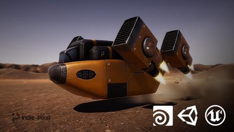Vehicle Modeling in Houdini 16.5 - SciFi Dropship