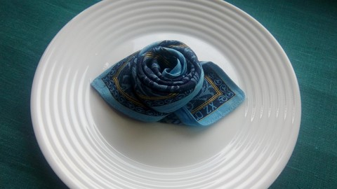 Art of folding napkins