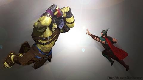 Netcurso-crea-a-hulk-en-zbrush-vol4-pose-y-render-lucha-completa