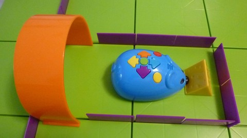 Coding With Coby, the Robot Mouse