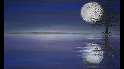 The Joy of Creating an Acrylic Blue Moon Artwork