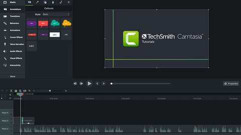 Camtasia Mastery for Camtasia 2019 from scratch
