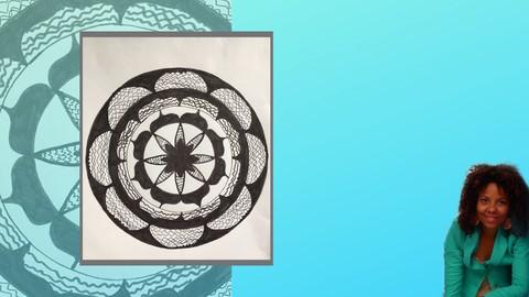 Mini Mandala Tutorial-How to draw a Mandala ( Beginner )