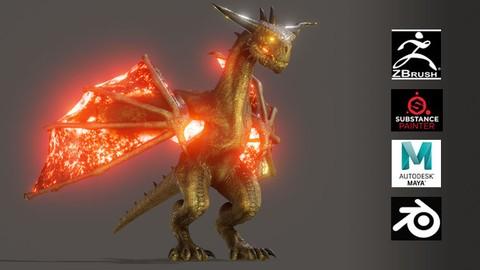 Netcurso-dragon-hiperreal-para-film-o-game-e-induccion-a-blender