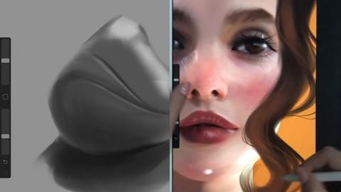 Netcurso-artistic-digital-portrait-painting
