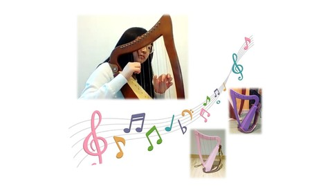 Harp Lessons For Beginners - start with 15 strings baby harp