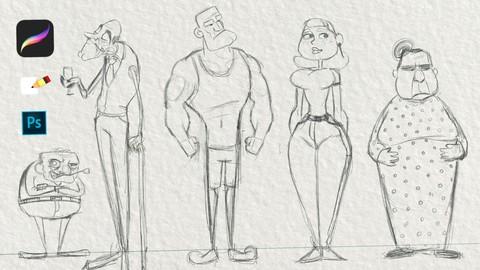 كورس الكارتون وتصميم الشخصيات المتكامل