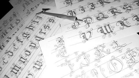 Calligraphy Alphabet Art