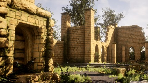 Ancient Ruins 3D Game Environment in Blender