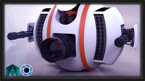 Netcurso-3dmotive-model-and-present-a-3d-drone-using-maya-and-keyshot
