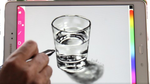 Draw a glass with the Paintology app