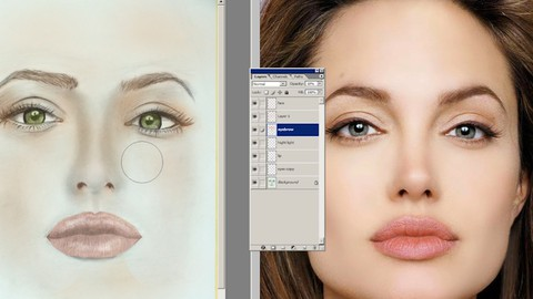 Photoshop Drawing, Using of software Tools in Portraits