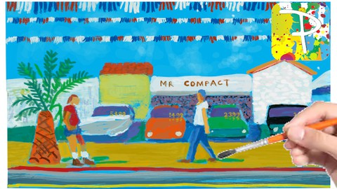 Netcurso-learn-to-draw-a-david-hockney-painting-with-paintology