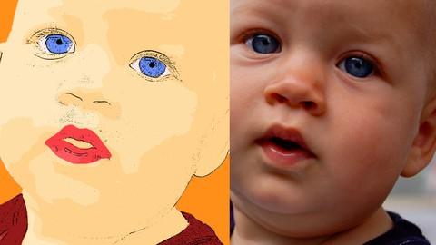 Netcurso-photoshop-turning-photograph-into-cartoon