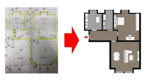 Netcurso-architektur-2d-grundriss-erstellen-mit-microsoft-word
