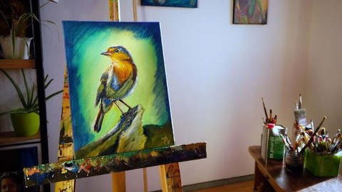 Easy, quick start into oil painting