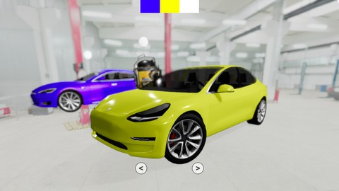 Image for course Learn Three.js using React: Build a 3D Tesla Workshop 2021