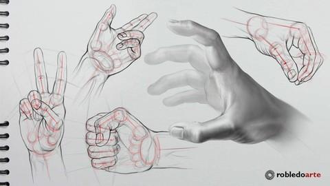 Dibujando manos paso a paso.
