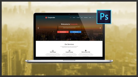 Image for course The Ultimate Web Designing Course in Photoshop