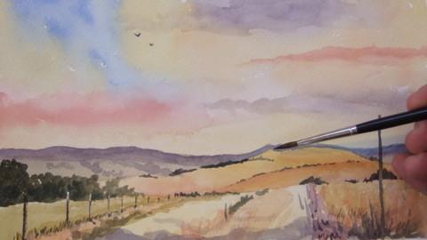 Paint Landscapes in Watercolor Part 1