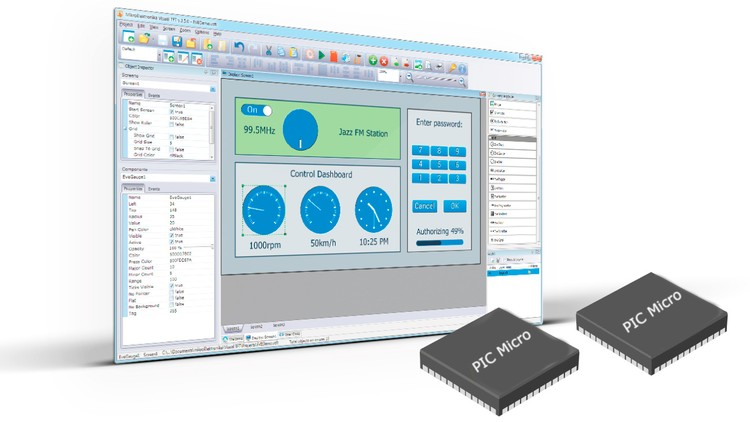 image for Control PIC Microcontroller using a GUI via USB or RS232