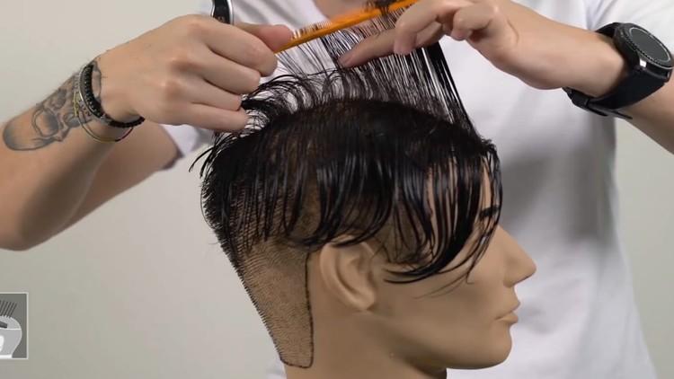 Men's Hair Cutting Techniques - Medium Layer Cut & Low Fade