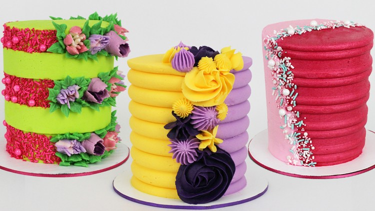 How to Decorate Half and Half Cakes