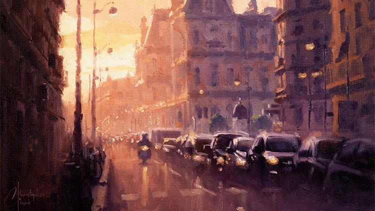 Impressionism - Paint this Paris Scene in oil or acrylic