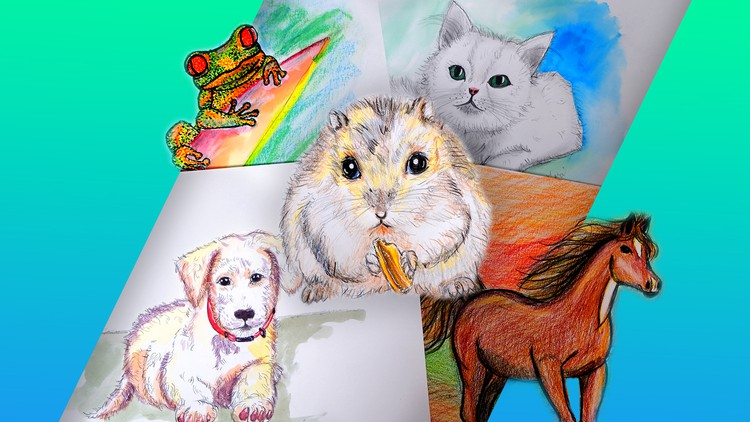 Drawing for Beginners: Learn to Draw 8 Animals
