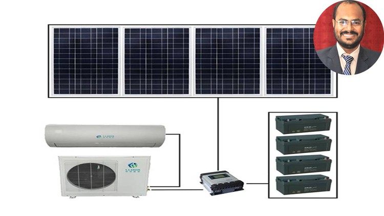 A to Z Design of Solar Photovoltaic Air Conditioning System