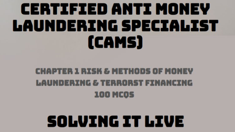Lecture: CAMS Chapter 1 – 100 MCQs Discussion & solution