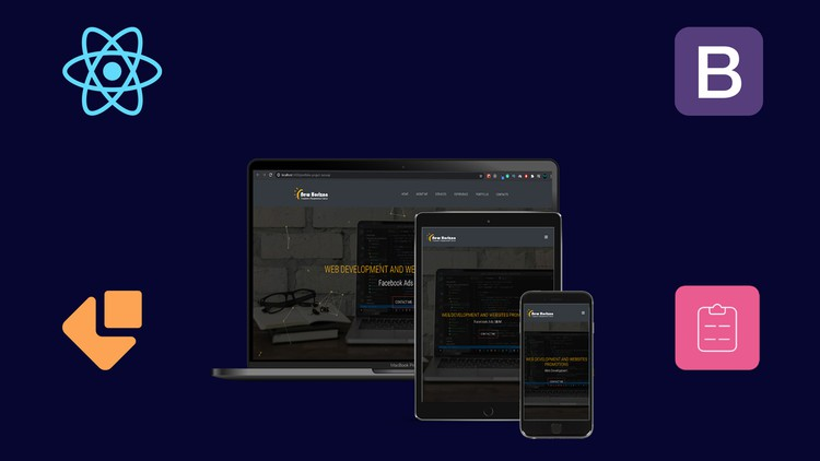 Build Portfolio App | With ReactJS & Bootstrap 4
