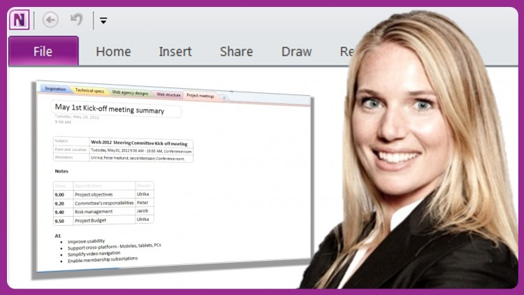Udemy coupon: Smart and effective notes using OneNote 2010